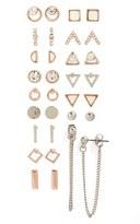 Topshop Geometric Earrings (Set of 16)