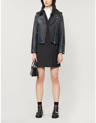 Claudie Pierlot Classicoe leather biker jacket