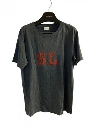 Saint Laurent Grey Cotton T-shirts