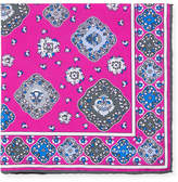 Kiton Moroccan Silk Pocket Square, Pink