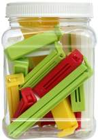Linden Sweden Twixit! Bag Clips, White/Yellow/Red/Lime, Set of 2 Super 6 Large 8 Medium and 10 Small