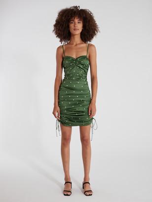 For Love & Lemons Paula Ruched Mini Dress