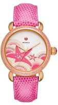 Michele Seaside Starfish Dial Watch with Diamonds, Miami Pink