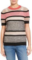 Halogen Stripe Open Stitch Sweater (Petite)
