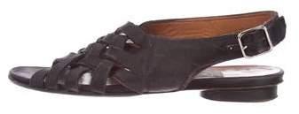 Lanvin Satin Braided Sandals