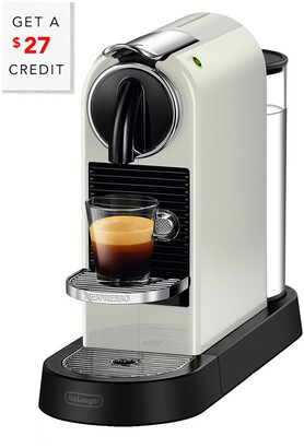De'Longhi Nespresso Citiz Single-Serve Espresso Machine In White