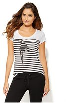 New York & Co. Love, NY&C Collection - Glamour Girl Graphic Tee