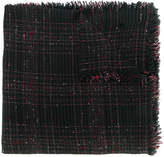 Faliero Sarti checked bouclé tartan scarf