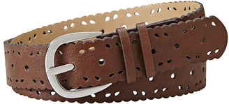 Relics Womens Jean Scallop Edge Perforated Belt