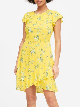 Banana Republic ECOVERO Flutter-Sleeve Mini Dress
