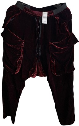 Unravel Project Red Velvet Trousers
