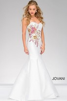 Jovani Sweetheart Neck Floral Mermaid Dress 33689