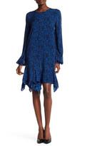 Thomas Wylde Blouson Ruffle Print Dress