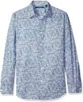 Perry Ellis Men's Tonal Check Shirt