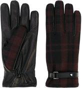 Valentino Garavani Valentino tartan gloves - men - Lamb Skin/Polyamide/Spandex/Elastane/Wool - 8