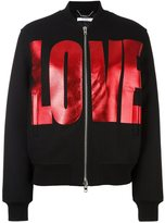 Givenchy love print bomber jacket - women - Polyamide/Acetate/Viscose/Wool - 36