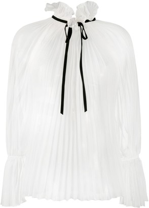 Philosophy di Lorenzo Serafini Pleated Tie-Fastening Blouse