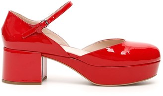 Miu Miu Platform Mary Jane Pumps