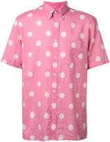 Levi's polka stripes button-down shirt
