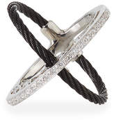 Alor Crisscross Diamond Cable Ring, Size 7