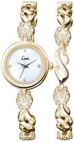 Limit Ladies' Gold-Plated Bracelet Watch & Bracelet Set