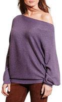 Lauren Ralph Lauren Dolman Sleeve Cotton-Blend Sweater