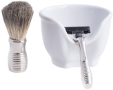 Bey-Berk Mach 3 Razor & Brush with Soap Dish (3 PC)