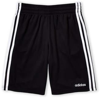 adidas Boys 8-20) 3-Stripe Mesh Shorts