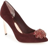 Ted Baker 'Peetch' Crystal-Embellished Pointy Toe Pump (Women)