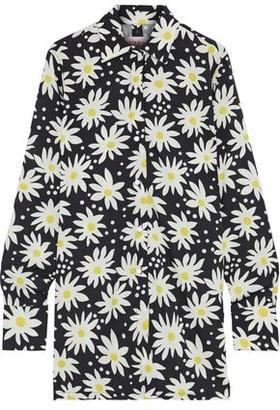 Solid & Striped Floral-print Crepe De Chine Shirt