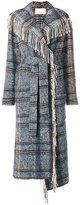 Tonello woven long fringed coat