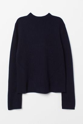 H&M Hole-pattern Cashmere Sweater