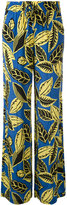 Moschino Printed drawstring palazzo pants - women - Rayon - 42