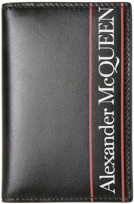 Alexander McQueen Logo Print Folded Card Holder
