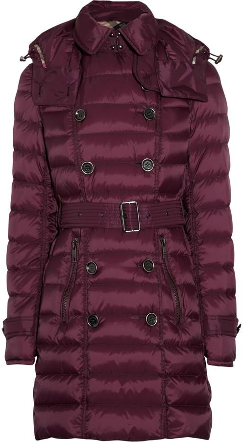Burberry Hooded padded shell coat