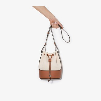 Loewe Cream Balloon canvas bucket bag