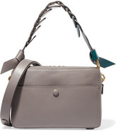Anya Hindmarch Triple Stack Color-block Leather Shoulder Bag - Gray