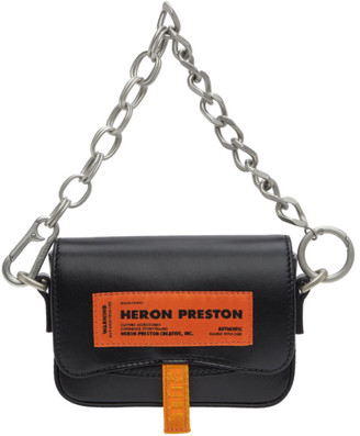 Heron Preston Black Mini Canal Bag
