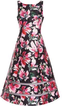 Adrianna Papell Print Mikado Midi Dress