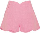 Paper London - Fraise Scalloped Linen Shorts - Baby pink