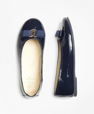 Brooks Brothers Girls Patent Leather Ballet Flats