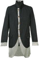 Comme des Garcons raw edge jacket - men - Polyester/Cotton - S