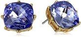 "Anne Klein Color Burst"" Gold-Tone Purple Square Stud Earrings"