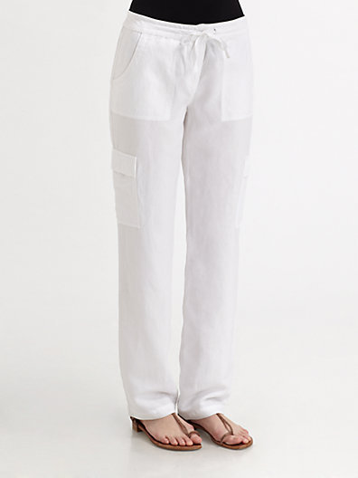 Eileen Fisher Tencel/Linen Cargo Pants