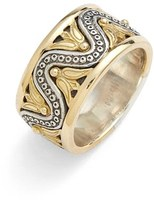 Konstantino Women's 'Hebe' Wave Etched Band Ring