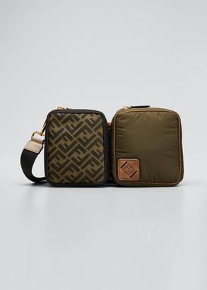 Fendi Men's FF Logo 2-Piece Crossbody Backpack