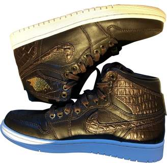 Jordan Air 1 Brown Leather Trainers