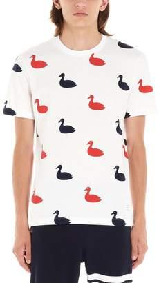 Thom Browne Swan Print Crewneck T-Shirt