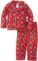 Disney Mickey Mouse Little Boys' Toddler Button Front Pajama Set