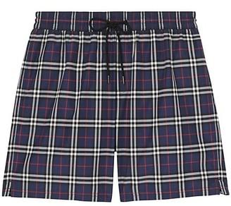 Burberry Guildes Plaid Swim Shorts